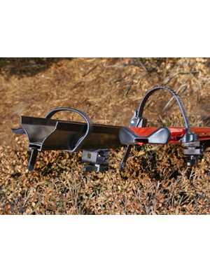 Tray height on the new Rocky Mounts Pitchfork is roughly half the norm.