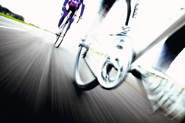 Control the urge to spin fast – for longer distances a slower pedalling cadence is more efficient