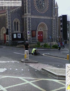 This two-bike crash in Bristol is captured for posterity on Google Street View