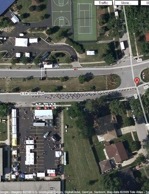 Cycle race in Elk Grove Village, Illinois