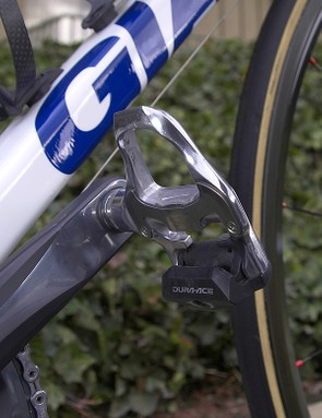 Shimano also provide pedals in the form of their latest Dura-Ace model