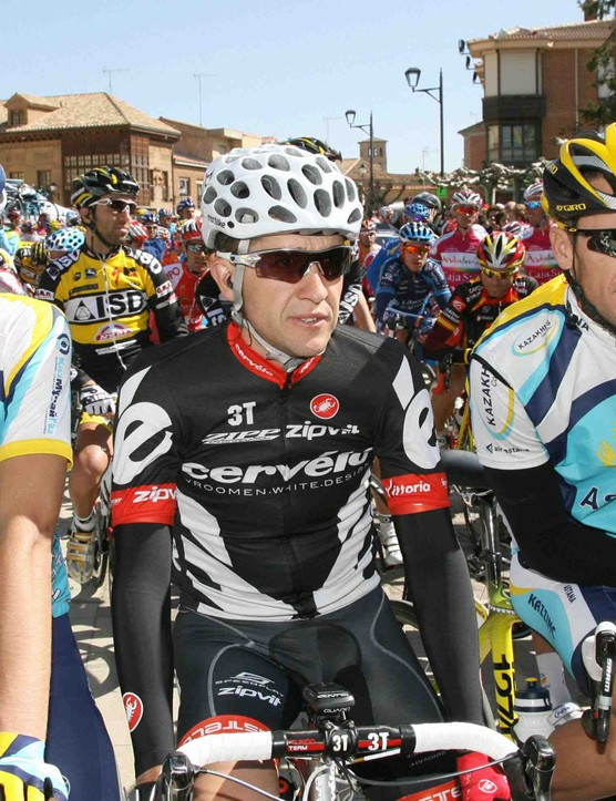 Three men, nine Tour de France victories: Alberto Contador (L), Carlos Sastre and Lance Armstrong before Stage 1 of the Castilla y León in Spain.