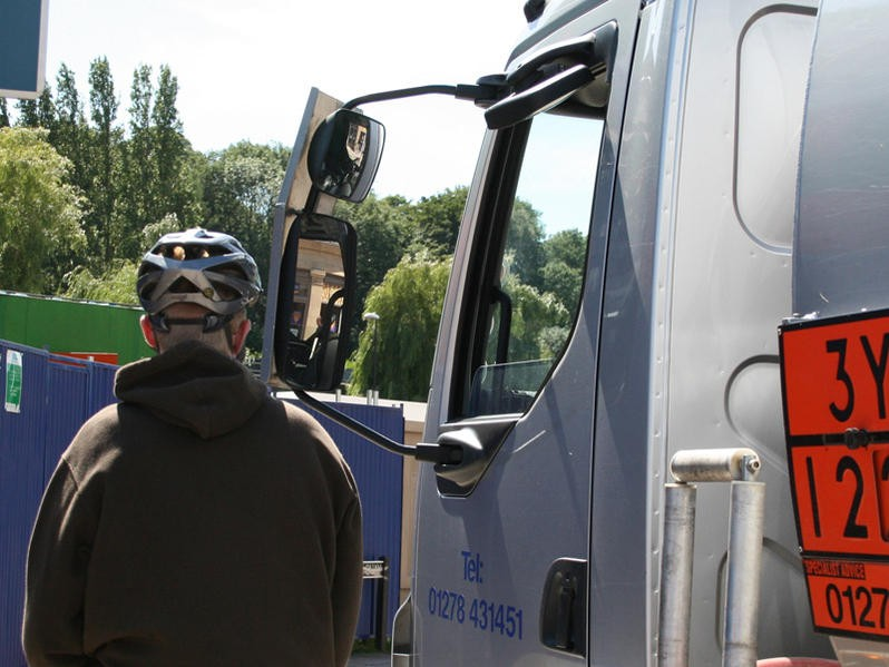The danger posed to cyclists by HGVs has been highlighted in the House of Lords