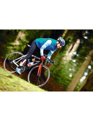 The Wilier has smooth, impeccable handling that's ideal for any fast riding