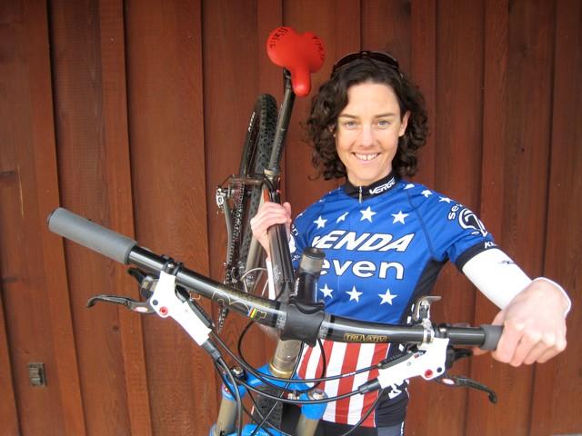 Long-time fi'zi:k saddle user Mary McConneloug.