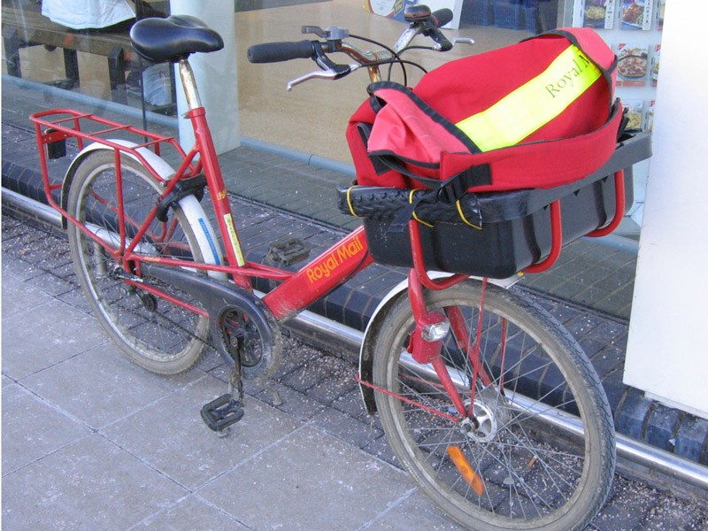 Royal Mail managers are insisting that workers use vans rather than delivering post using the traditional bike