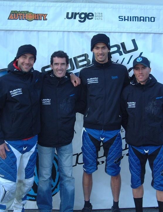 Fabien Barel, Jean-Baptiste Wiroth, Damien Spagnolo and Florent Payet.