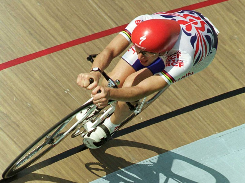Graeme Obree, pictured here in 1996, will be appearing at BikeRadar Live