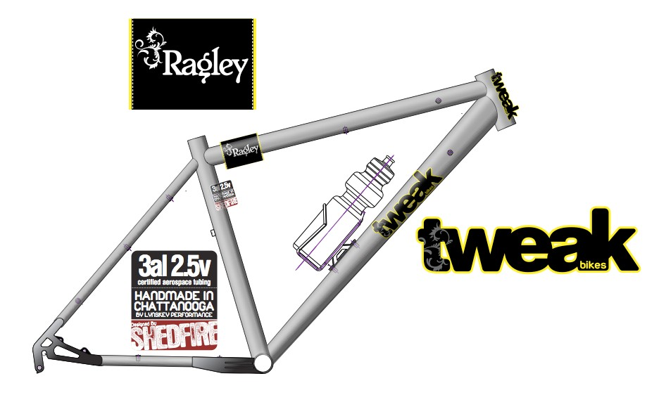 The soon-to-be released Tweak Ragley Ti.