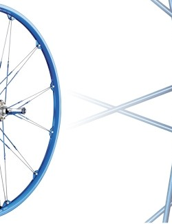 The 2009 Crankbrothers Cobalt cross-country wheelset.