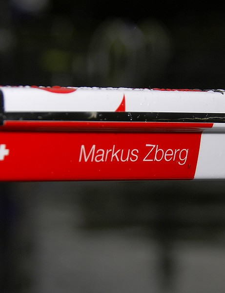 Zberg enjoys the privilege of a custom paint job owing to his Swiss national title.