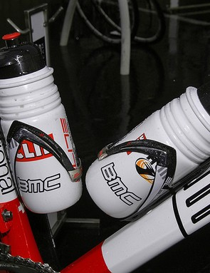 Bottles are held by Elite's Custom Carbon cages.
