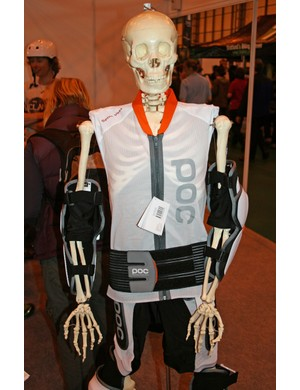 This skeleton is modelling POC's Spine VPD Vest, Hip VPD Shorts and Bone leg and arm armour