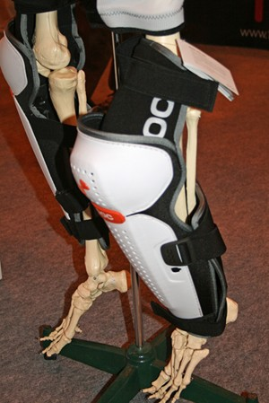POC's Bone VPD Leg armour is unusual because it hinges above the knee