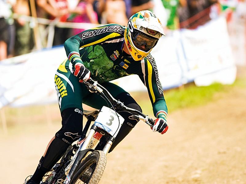 Greg Minnaar at last year's World Championships in Italy