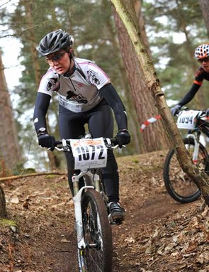 Maxine Filby was victorous in the women's masters' race
