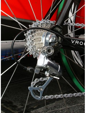 The Cervélo TestTeam started out the season with Shimano Dura-Ace 7800, then switched to 7900 only to revert back.