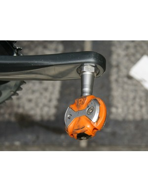 Dean's bike was fitted with stainless steel-axled Speedplay Zero pedals.