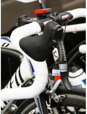 …though the team has recently switched to SRAM Red to replace the previous Shimano Dura-Ace componentry.