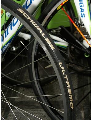 Franzoi ran Schwalbe Ultremo tubulars at this year's Ronde van Vlaanderen.