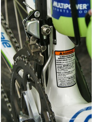 Liquigas has some of the slickest-looking front chain guards around.