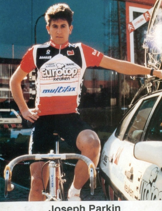 Joe Parkin in 1988 when he raced professionally in Belgium.