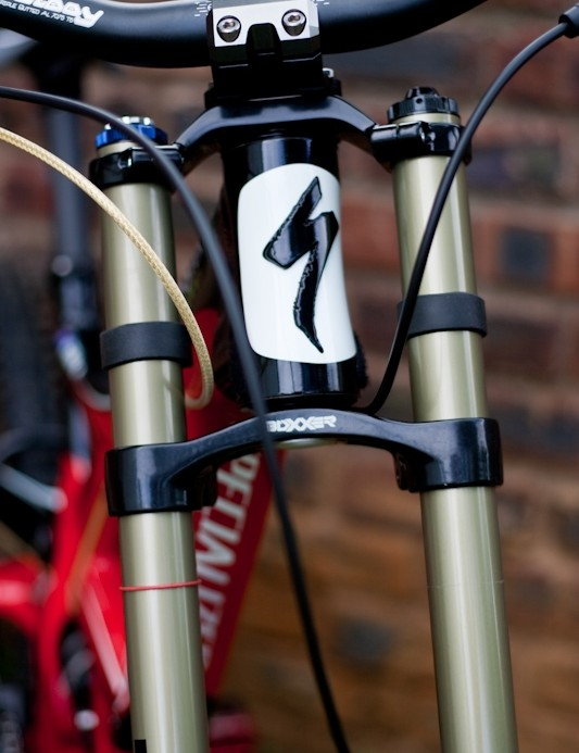 The Monster Energy/Specialized team are running RockShox's new Boxxer forks