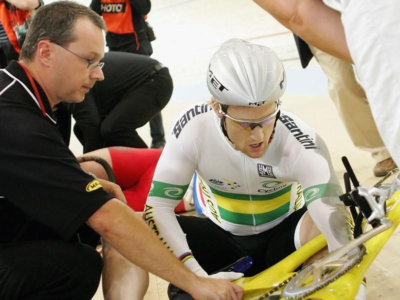 Jobie Dajka with his former coach, Martin Barras