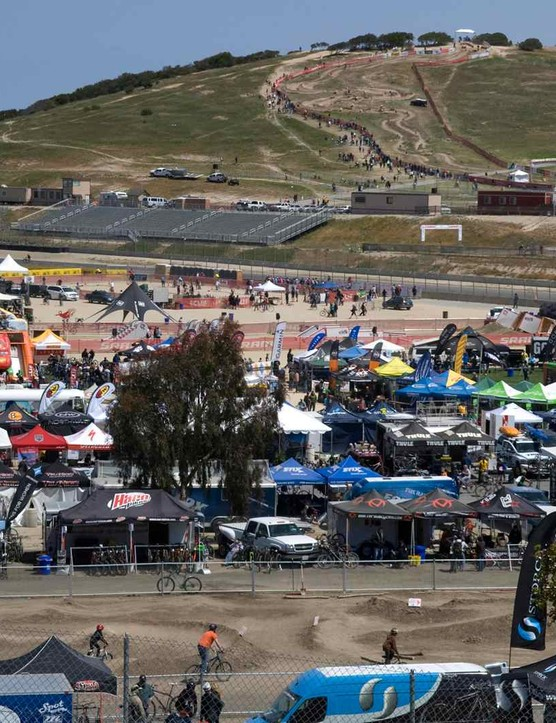 The Sea Otter Classic is held every April at the Laguna Seca Raceway in Monterey, California.