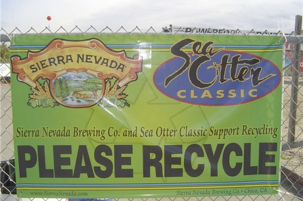 Sierra Nevada Brewing Company is partnering with Sea Otter to make sure proper recycling happens.