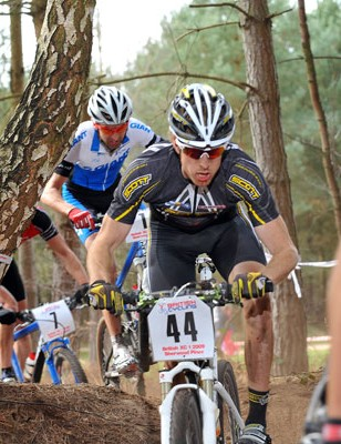 Elite men's race at British Mountain Bike Series round one, Sherwood Pines