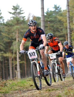 Masters' race at British Mountain Bike Series round one, Sherwood Pines