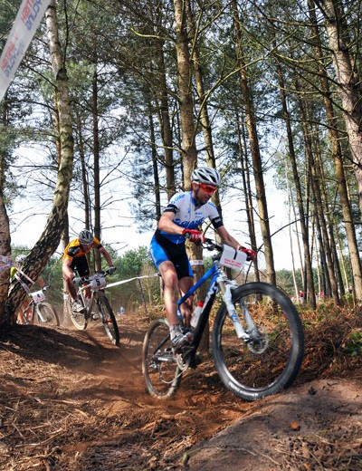Oli Beckingsale at British Mountain Bike Series round one, Sherwood Pines