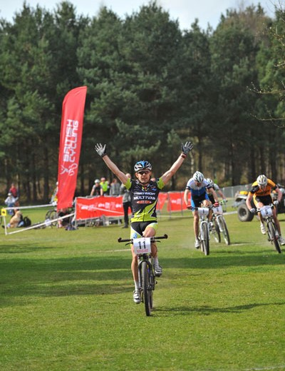 Jody Crawforth at British Mountain Bike Series round one, Sherwood Pines