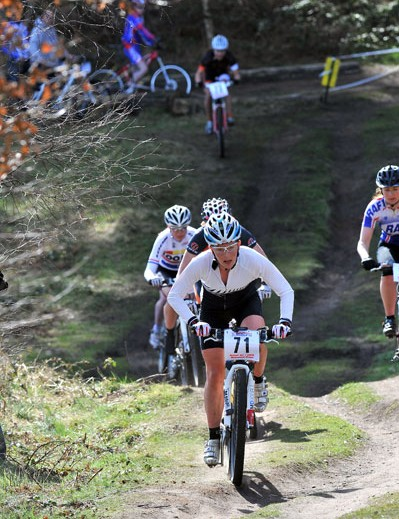 Rosara Joseph at British Mountain Bike Series round one, Sherwood Pines