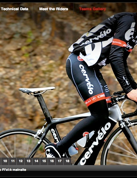 2008 Tour de France champion and Cervélo TestTeam rider Carlos Sastre.