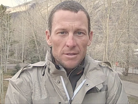 Lance Armstrong speaking from his Aspen, Colorado home April 10, 2009.