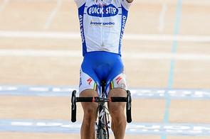 Boonen celebrates his third Paris-Roubaix win