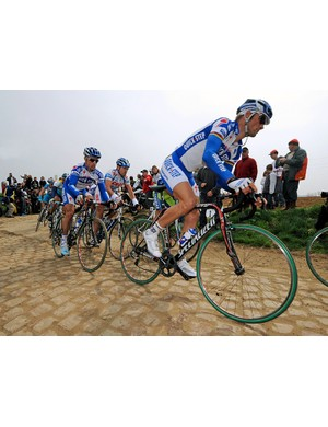 Tom Boonen had a strong Quick.Step team