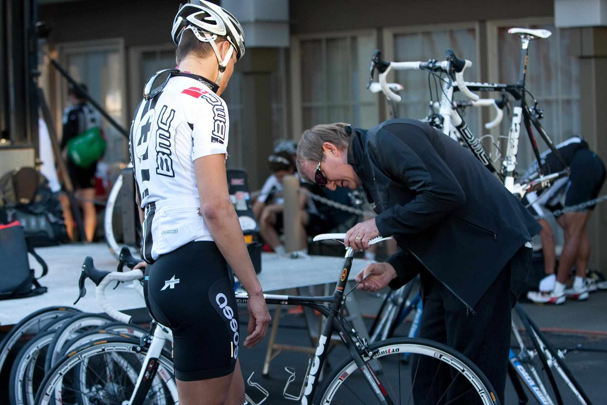 BMC mechanics work closely with their riders.