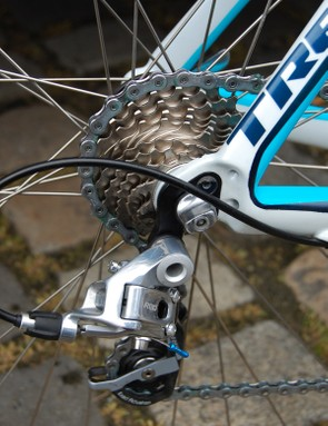 Rear dropouts borrowed from elsewhere in the Trek family extend the chainstay length for greater stability