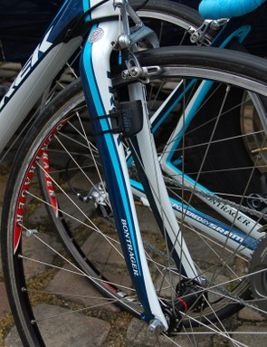 Astana also swapped their usual Madone forks for ones with extra tyre clearance
