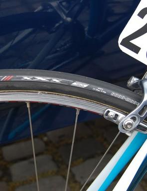 This Astana team tyre was badged as a Bontrager Race XXX Lite tubular…