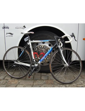 Caisse d'Epargne put half of their riders on 'cross bikes at this year's Paris-Roubaix