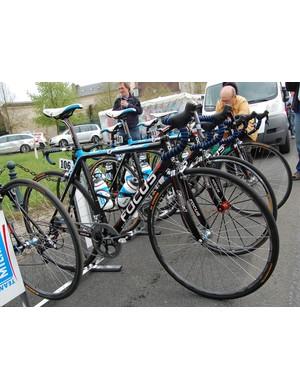 Milram rider Niki Terpstra used a Focus Mares Team 'cross frame for Ghent-Wevelgem but opted for a regular road bike for Paris-Roubaix