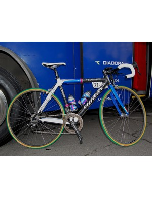 Lampre riders adopted a familiar formula for their Paris-Roubaix bikes, combining attributes of road and 'cross frames for a special ride