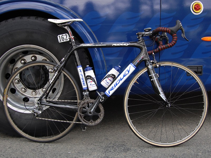 Most of the Katusha riders used hybrid Ridley creations based around their X-Fire cyclo-cross frame
