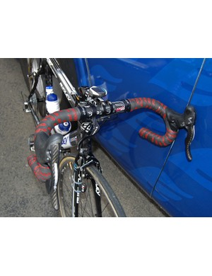 Save for the team-specific logos and sponsor-appropriate parts, these bars could have been found on just about anyone's bike at Paris-Roubaix