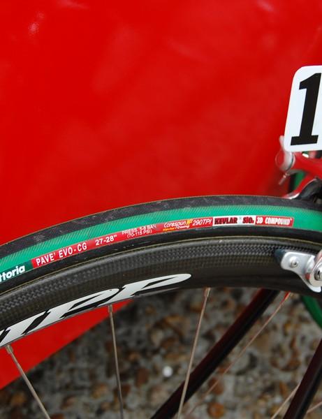 TestTeam riders used Vittoria Pavé EVO-CG tubulars