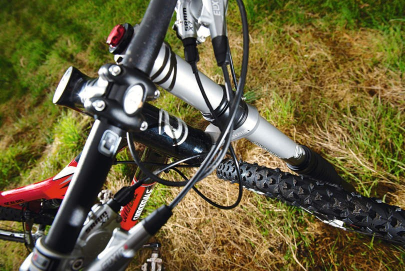 Cannondale's Lefty fork is a super stiff unit